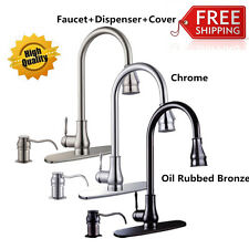"18""/16"" Modern Kitchen Sink Pull Out Down Faucet Spray Swivel Spout Dispenser OY"