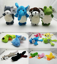 Plush Pet Puppy Squeaky Dog Toy Racoon Frog Rabbit Skunk Bear Duck #