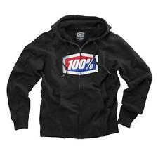 100% Official Zip-Up Hooded Sweatshirt Hoodie Black Sizes S M L XL 2XL