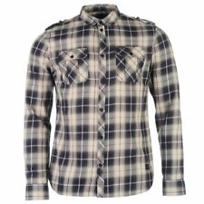 Firetrap Check Shirt Long Sleeve Cotton Mens