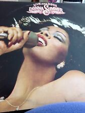 Donna Summer Live and More LP Vinyl Records x2 12