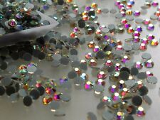 750pcs Hotfix DMC SS16 (3.8-4mm) CLEAR AB GLASS CRYSTAL Rhinestone Iron On