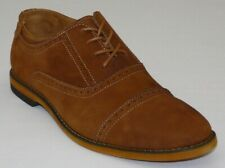 Men STEVE MADDEN Nubuck Suede Shoes Comfort Cap toe Lace oxford JOISTT Tan New