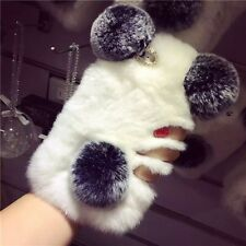 Winter Warm Furry Rabbit Fur Hair Panda Bear Soft Case Cover For iphone Cute New