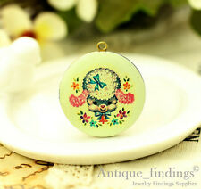 1PCS Vintage Baby Lamb Locket Necklace,  Photo Sheep Locket Pendant HLK136K
