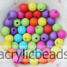 6-20 MM Solid Colour Matte Opaque Acrylic Round Beads for Charms Jewelry Making