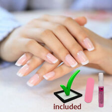 24pcs Artificial PreDesign French Manicure Black Tips GLUE Nail Full Cover cheap
