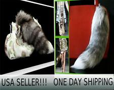 FOX TAIL 100% REAL GENUINE - Keychain  Fur Tassel Bag Purse Tag Charm USA SELLER
