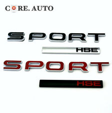 2 Color SPORT + HSE Badge Car Trunk Tailgate Sticker For HSE LUX Evoque