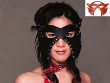 New Leather Studded Cat Mask Fancy Fetish Dress Club Party Halloween Wear