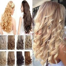 """100% Thick One Piece Full Head Ombre Clip in Hair Extensions AS Human 17-30"""" H92"""