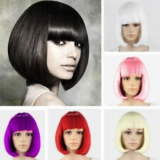 Wholesale 20%off Full Wig BOB Wigs Short Straight Hair for Lady Costume Party h6
