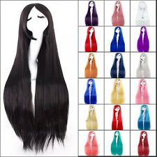 Anime Costume Cosplay Full Wig Curly Wave Straight Black Blonde Purple Grey Wigs
