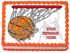 BASKETBALL Image Edible Cake topper