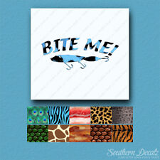 Bite Me Fishing Lure - Vinyl Decal Sticker - Multiple Animals & Sizes - ebn802