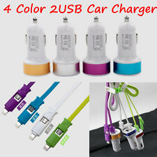 12V Dual USB 2.1A Car Charger 2 Port Adapter For Cell Phones Universal 4 Colors