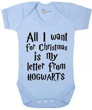 Baby Grow- christmas edition 'Letter from Hogwarts ' Christmas baby Grow