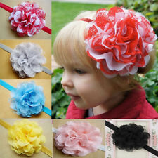 Kids Girl Baby Headband Toddler Lace Bow Flower Hair Band Headwear Accessories