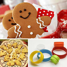Fashion Plastic Cookie Cake Stamp Mold Set 7 Different Design  Shape New