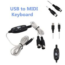 New USB to Midi Interface Piano Music Keyboard Cable Adapter Converter for PC SY