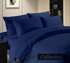 Navy Blue Brand New Collection Solid/Striped 1000TC 100%Egyptian Cotton Bedding