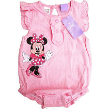Girls baby Romper pink spotty - minnie mouse size 000/00/0/1 Christmas cotton AU