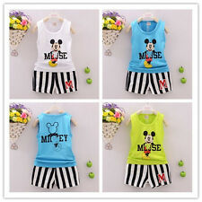 Kids Baby Outfits Tops Vest/Short Pant Toddler Boys Mickey Mouse New Costume