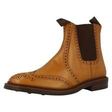 Mens Loake Pull On Brogue Boots, Thirsk