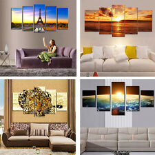 """5pcs HUGE MODERN ABSTRACT WALL DECOR ART OIL PAINTING ON CANVAS """"no frame"""""""