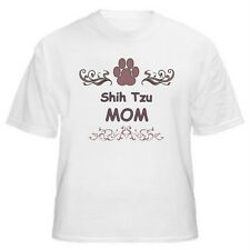Shih Tzu Mom Paw Dog Lover T-Shirt - Sizes Small through 5XL