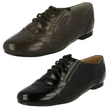 Ladies Spot On Brogue Lace Up Shoes, F8693