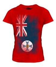 QUEENSLAND FADED FLAG LADIES T-SHIRT TEE TOP GIFT SHIRT CLOTHING JERSEY