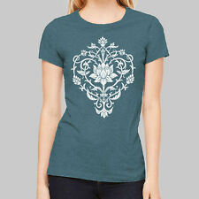 Womens Graphic Tees - Flower Lotus T Shirts, junior tops, short sleeve