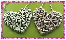BRIGHTON LOVE DAISY Flower Enamel Pendant NECKLACE Nwotag WHITE or PINK U Choose