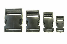 20,25 32,38,50mm,Black Plastic Side-Release Buckles For Webbing,Bags,Straps