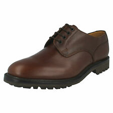 MENS LOAKE LACE UP SHOES EPSOM BROWN WAXY LEATHER F FITTING