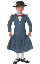 Child Mary Poppins Victorian Girls Book Week Outfit Fancy Dress Costume