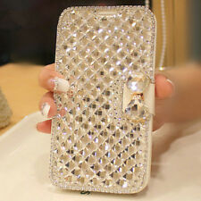 Luxury Rhinestone Diamond Wallet Leather Case For Smartphones Samsung Galaxy S4