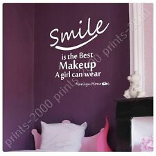 STICKER +GIFT Smile Is The Best Makeup Marilyn Monroe Alonline Designs Mural