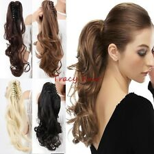 Clip In Hair Extension Ponytail As Human Barbie Claw Pony Tail  Hair Piece H910
