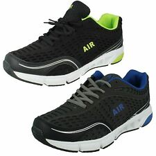 MENS AIR TECH MADRUD LACE UP LIGHTWEIGHT SPORTS GYM TRAINERS SHOES