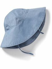 OLD NAVY Girls Hat Size 6-12 months Chambray Sun Hat Cotton Blue NEW