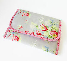 Foldable baby travel changing mat for bag -Oilcloth & Cath Kidston Flowers Grey