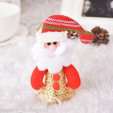Lots Wholesale Red Santa Claus Christmas Bell Xmas Ornaments Christmas Tree