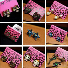 New Betsey Johnson Earring Crystal Ear Stud Fashion Jewelry Accessory New Gifts