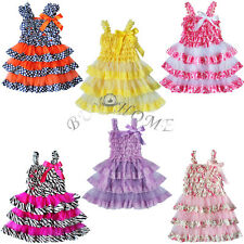Toddler Lace Tulle Rustic Baby Girl Kid Ruffle Wedding Tutu Dress Clothing 6M-4T