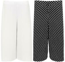 New Womens Plus Size Dogtooth Tie Dye Print Wide Leg Culottes Shorts 16-26