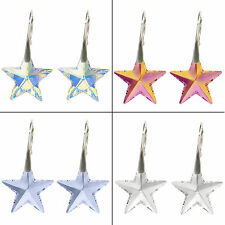 STAR CRYSTAL 6714 20MM 925 STERLING SILVER EARRINGS made with SWAROVSKI ELEMENTS
