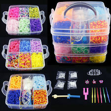 4.4K 4.8K DIY Rainbow Colorful Rubber Loom Bands Bracelet Making Kit Set Fun