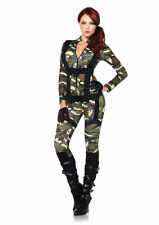 Leg Avenue 85166 Women 2PC Pretty Paratrooper Zipper Front Jumpsuit Body Harness